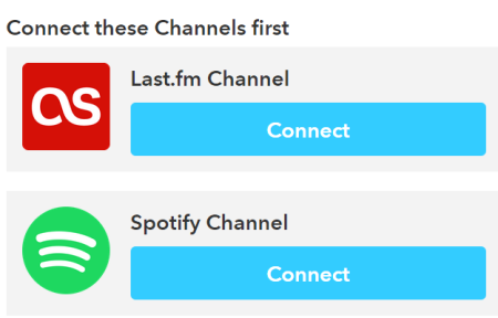 Connect your Last.fm and Spotify accounts with IFTTT