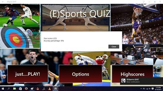 (E)Sports Quiz score