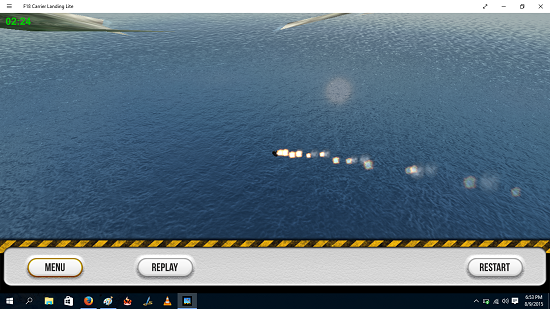 F18 Carrier Landing Lite Crash