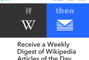 IFTTT recipe to receive a weekly digest of Wikipedia's Article of the Day