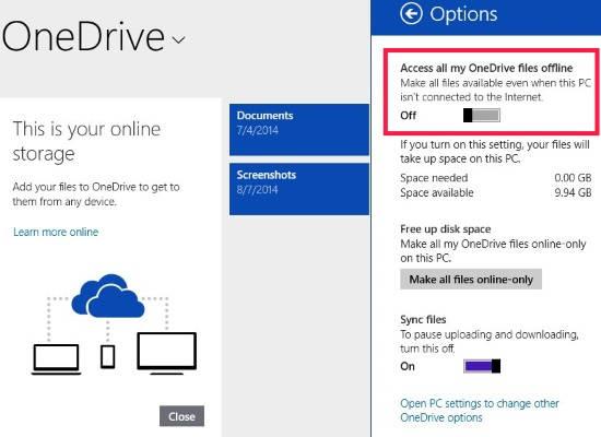 OneDrive-Options