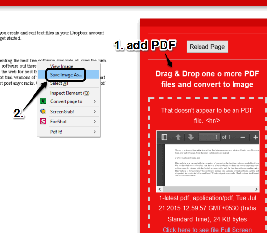 PDF to Images Converter homepage