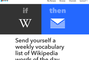 Send yourself a weekly vocabulary list of Wikipedia Word of the Day