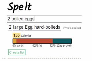 Spelt- get nutritional information for food items