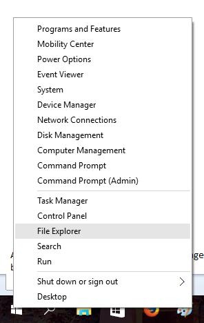 Tutorial Account Settings file explorer