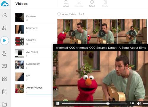 Videos menu