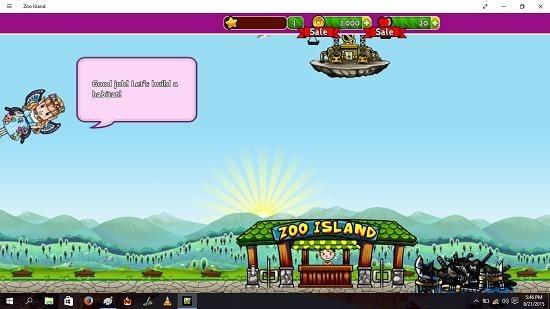 Zoo Island task complete