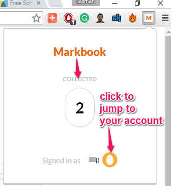 access your Markbook account to see the collections