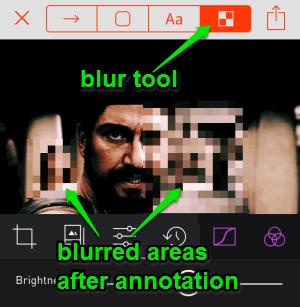 blur tool