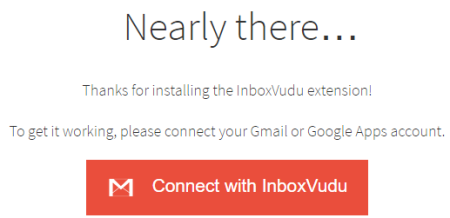 connect InboxVudu with your Gmail account