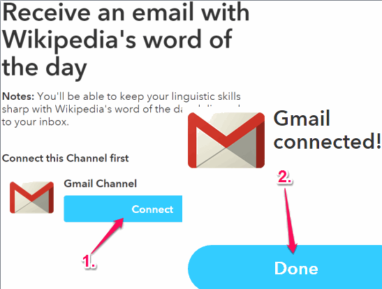 connect your Gmail with IFTTT