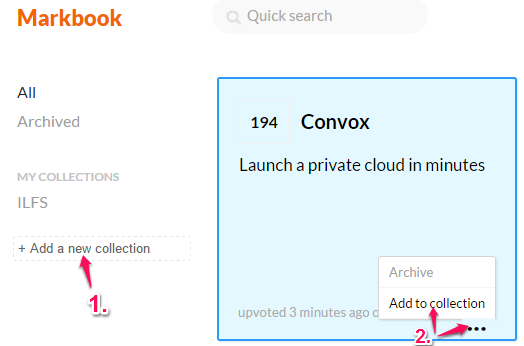 create a collection and add favorites to collection