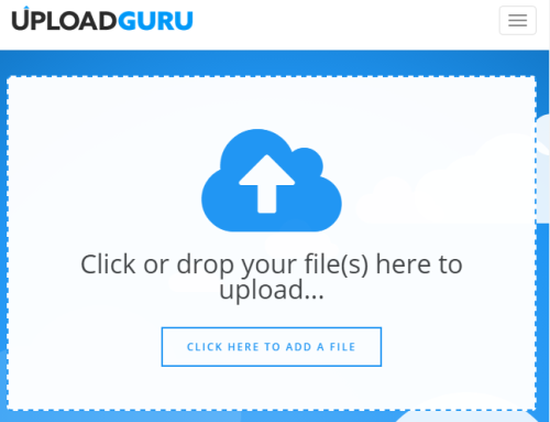 create free account and upload large files