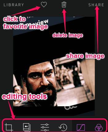 editing mode