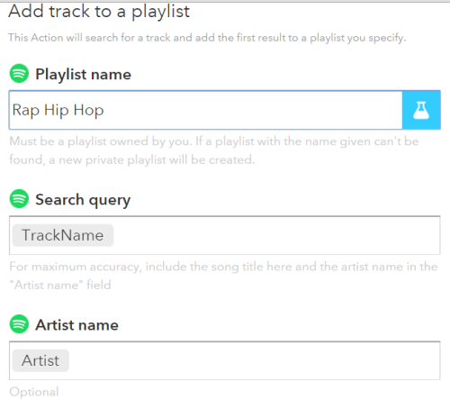 enter your Spotify Playlist name