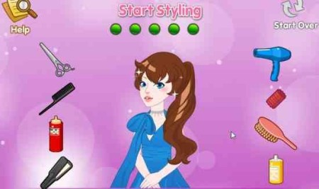 girlsgogames fairytale hairstyle