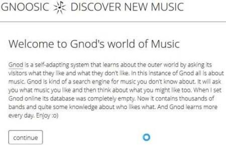gnoosic homepage