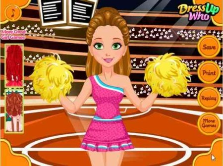 gold hair games cheer hairstyles