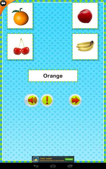kids fruits and vegetables apps android 2