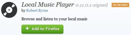 local music player home page
