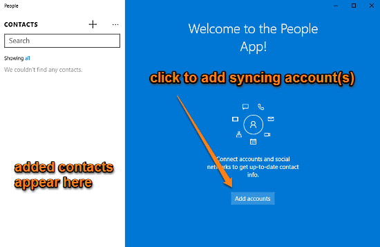people app add accounts