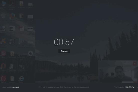 rest screen