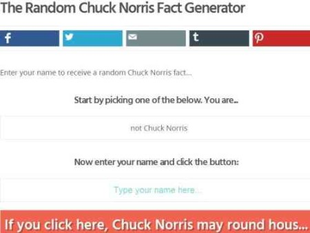 rumandmonkey chuck norris fact generator