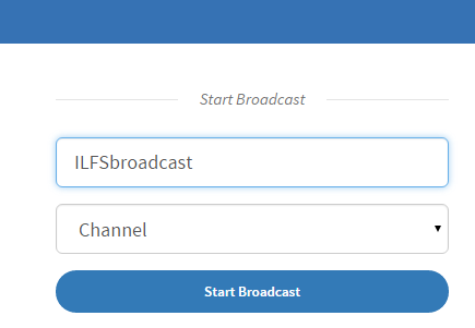 select a broadcast name and category