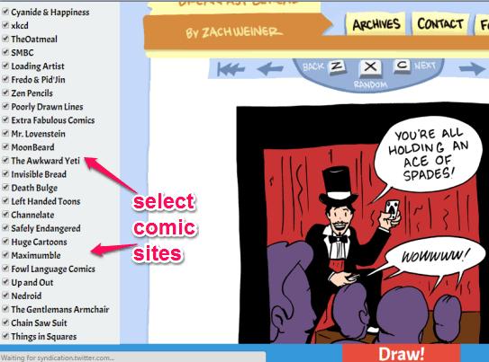 select comic sites