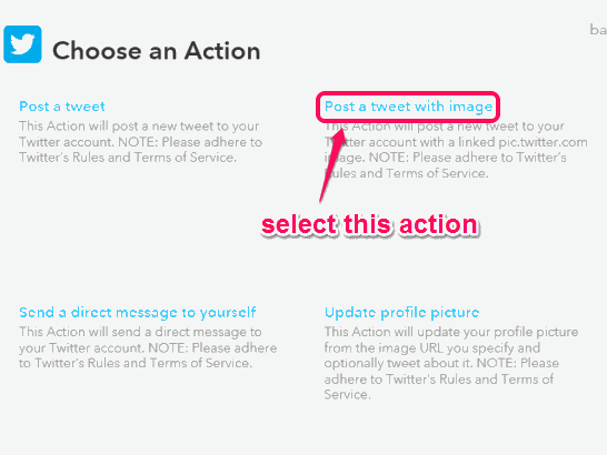 select post a tweet with image action