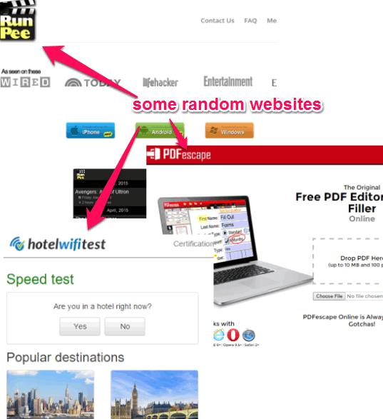 some random websites