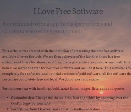 start writing on its minimal interface