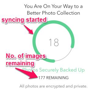 syncing photos