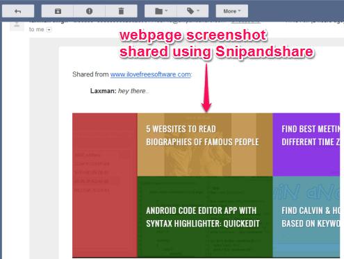 webpage screenshot shared using Snipandshare