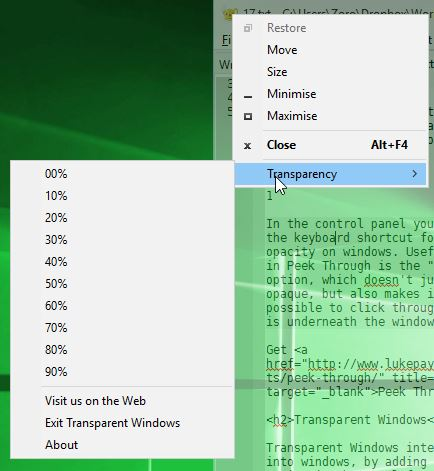 window opacity software windows 10 2