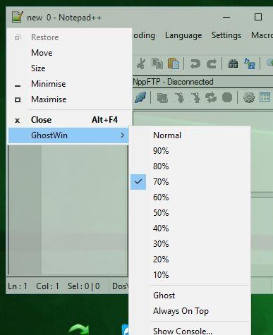 window opacity software windows 10 4