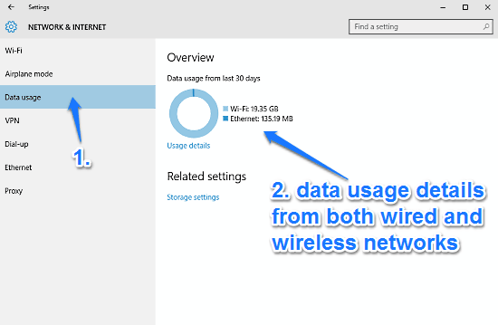 windows 10 check data usage details