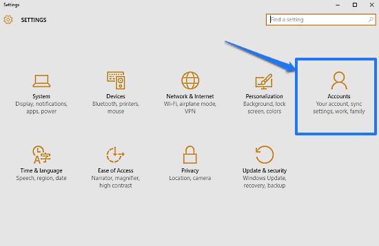 windows 10 modern settings accounts