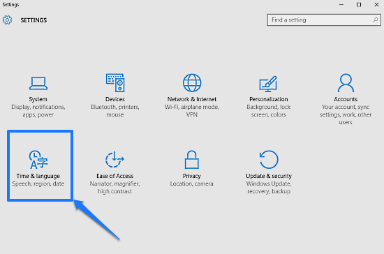windows 10 modern settings system