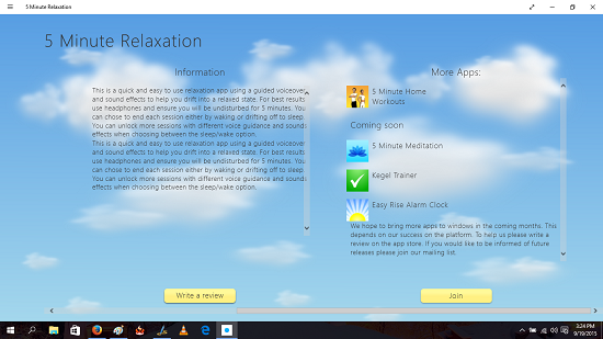 5 minute relaxation information