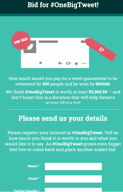 Bid for #OneBigTweet!