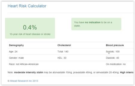 heart attack risk calculator