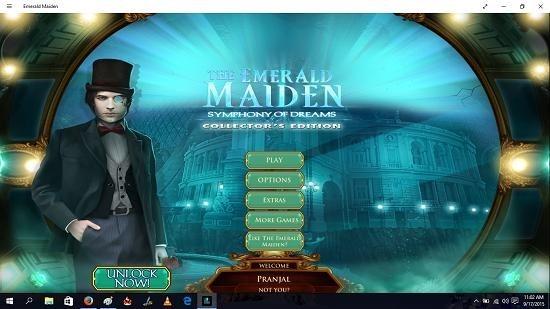 Emerald Maiden main menu