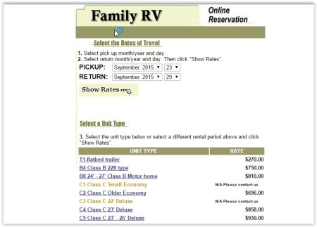 get RV on rent