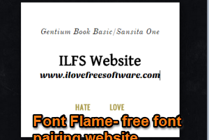 Font Flame- free font pairing website