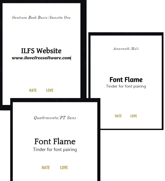 Font Flame- pair fonts with custom text