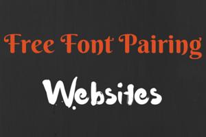 Free Font Pairing websites