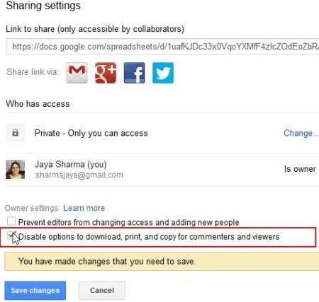 Google drive disable download advanced screen