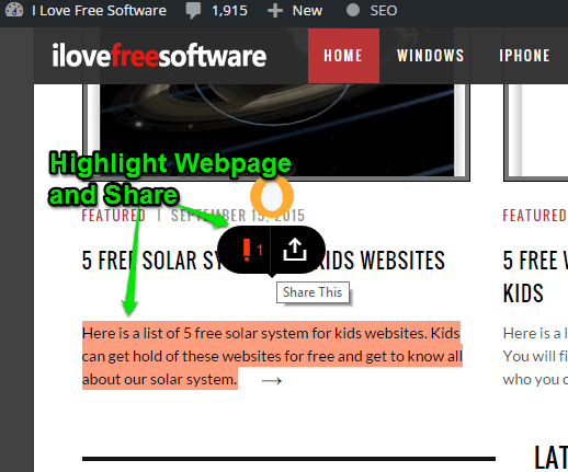 Highly Chrome extension- highlight webpages and share