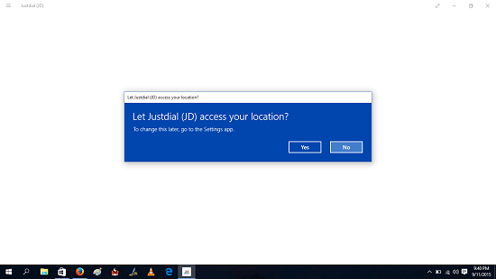 JustDial location access